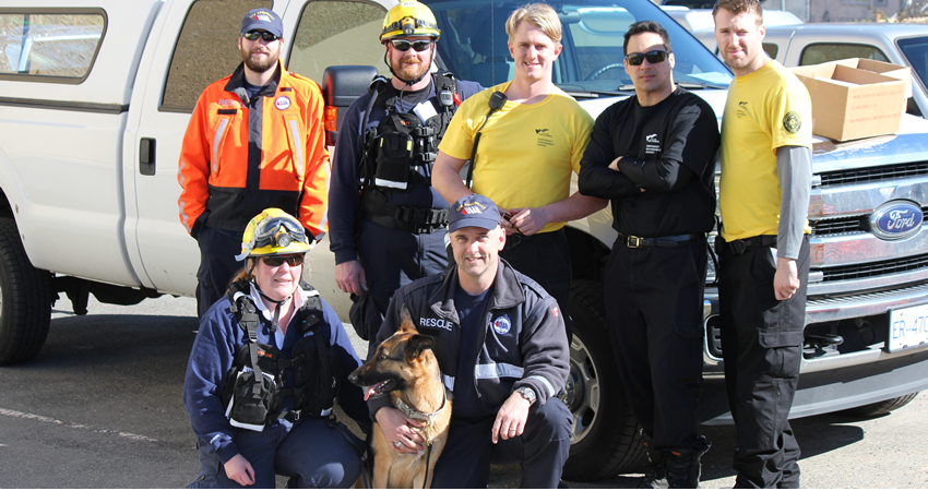 Earthquake Simulation with help from CFB Esquimalt and Victoria Urban Search & Rescue (Moxie the Search Dog, too!)