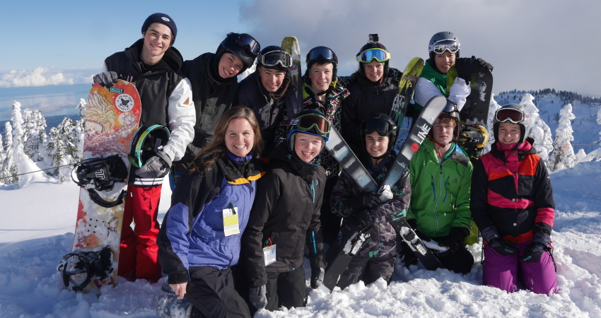 """Oak Bay High Ski and Snowboard Team"" They had their first ever ski/snowboard races on January 19th and did an amazing job!!"
