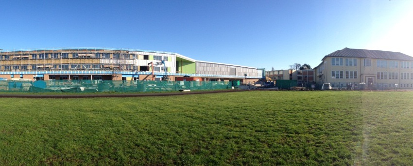 Our new school taking on some color and shape….